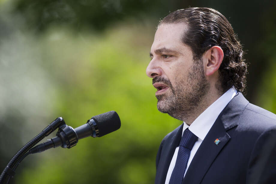 Saad Hariri, who announced his resignation as Lebanon's prime minister Nov. 4 in Saudi Arabia, seen here in the Rose Garden of the White House in Washington, D.C., on July 25, 2017. Photo: Bloomberg Photo By Zach Gibson. / © 2017 Bloomberg Finance LP