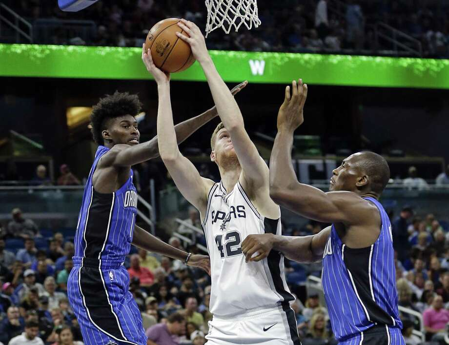 Davis Bertans has seen his role decrease this season. Photo: John Raoux /Associated Press / Copyright 2017 The Associated Press. All rights reserved.