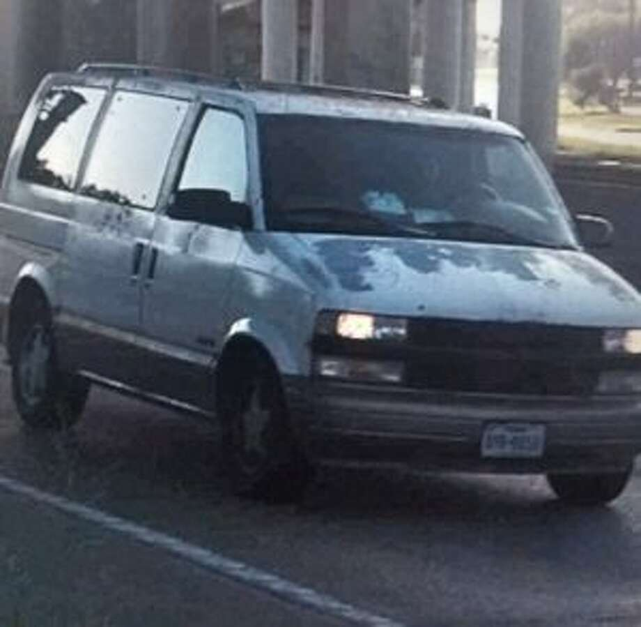 The van that Sean Milton Crooks was allegedly driving during an indecent exposure incident. Photo: Beaumont Police Department