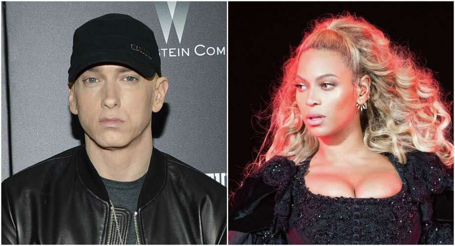 Eminem and Beyonce have teamed up for 'Walk on Water.' Photo: Evan Agostini/Invision/AP And Daniela Vesco/Invision For Parkwood Entertainment/AP Images