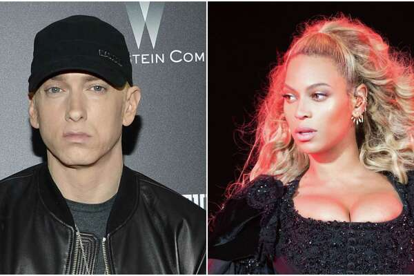 Eminem and Beyonce have teamed up for 'Walk on Water.'
