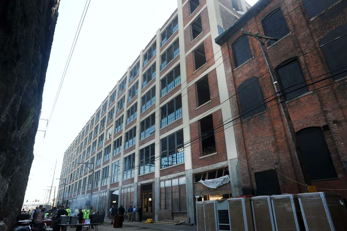 The Cherry Street Lofts project in Bridgeport. The developer, Corvus Capital, is among several slated to speak at a forum discussing projects underway around the city on Thursday.