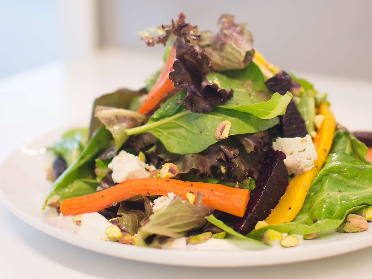 Autumn Harvest Salad with roasted butternut squash at Bellagreen, formerly Ruggles Green.