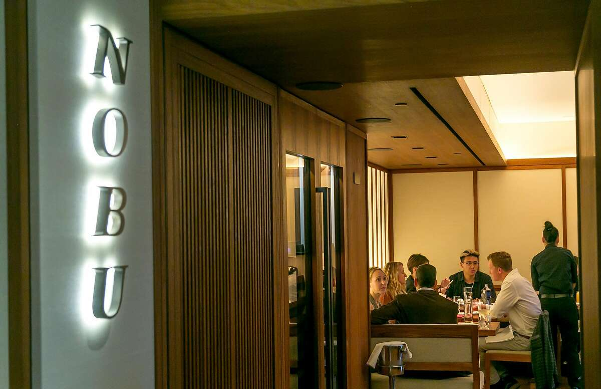People have dinner at Nobu in Palo Alto, Calif. on November 1st, 2017.