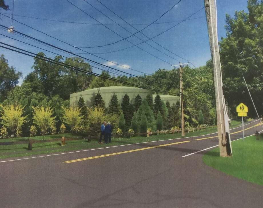 Picture, designed by AECOM, of proposed water tanks on North Ave. in Westport. Photo: Sophie Vaughan /Hearst Connecticut Media