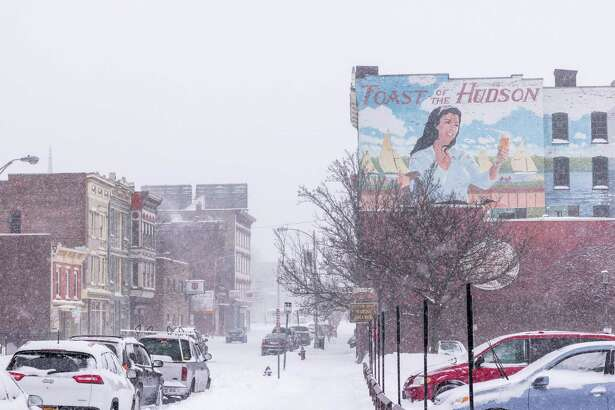 Downtown Troy, blanketed in snow. Our winning #UpstateinWinter photo by Eddie Quinn.