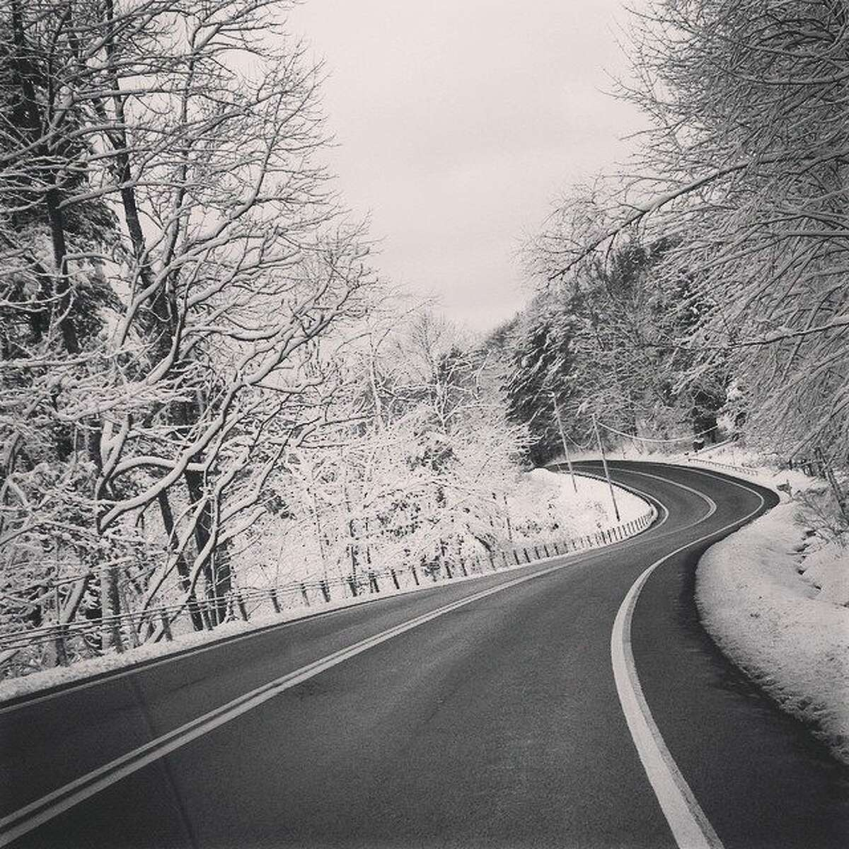 A winding, wintry road in East Nassau. Photo by Mary Beth Mullen, of the same town.
