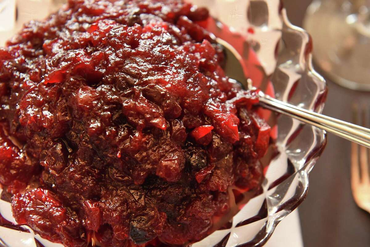 Cranberry sauce prepared by Deanna Fox at her home on Thursday, Oct. 12, 2017 in Delanson, N.Y. (Lori Van Buren / Times Union)