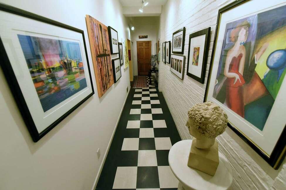 Hallway in Holly Katz' home on Tuesday, Sept. 19, 2017 in Albany, N.Y. (Lori Van Buren / Times Union)