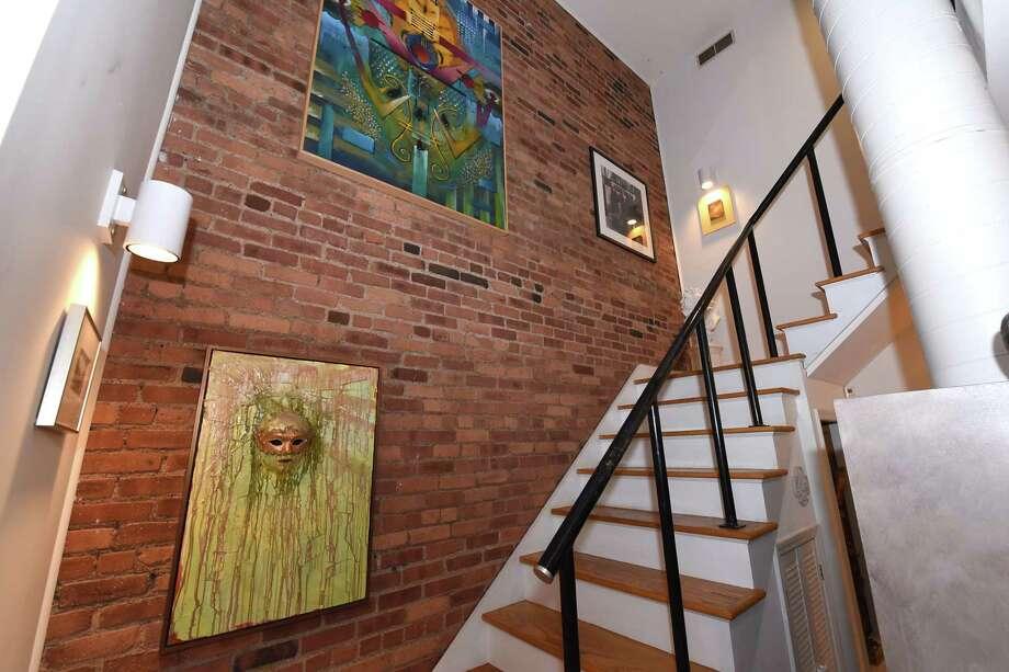 Staircase in Holly Katz' home on Tuesday, Sept. 19, 2017 in Albany, N.Y. (Lori Van Buren / Times Union) Photo: Lori Van Buren / 20041583A
