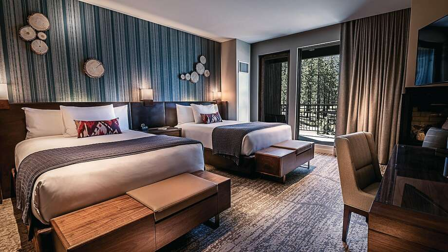 Guest rooms in the Lodge at Edgewood Tahoe start at 500 square feet and have wood and nautical-themed decor reflective of the setting. Photo: The Lodge At Edgewood Tahoe