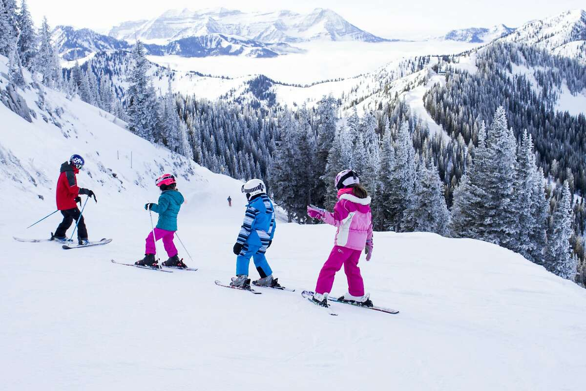 Ski school has a long, beloved history at Brighton. Even kids of past instructors are teaching ski school basics.