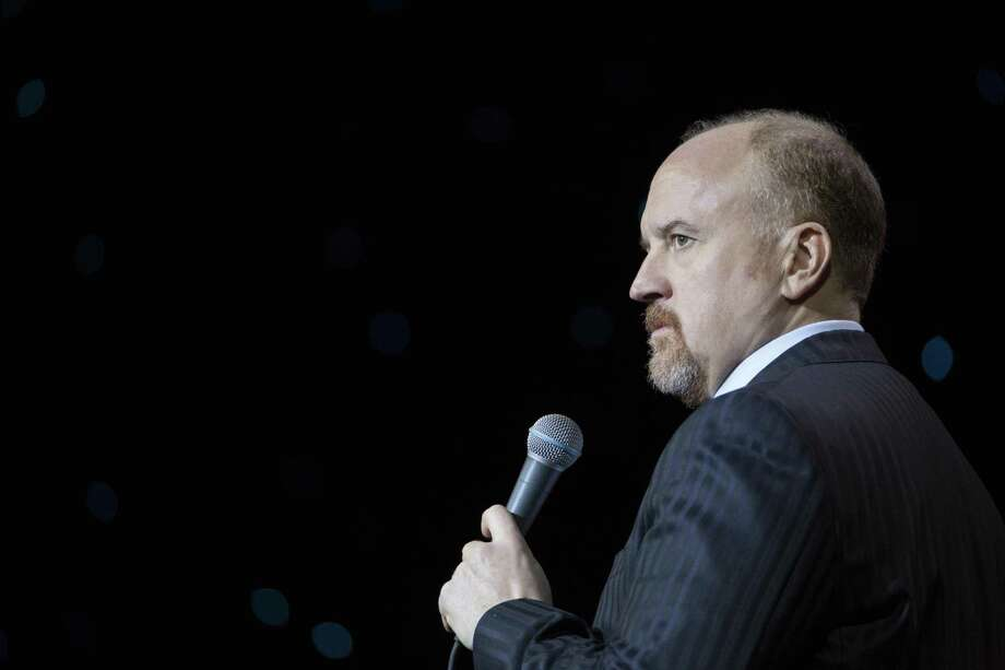 "Comedian Louis C.K. in his Netflix special, ""Louis CK: 2017."" The comedian confessed to exposing himself to five women and apologized to them and the people he works with. Media companies large and small are now reassessing their ties to the entertainer. Photo: Courtesy Cara Howe"