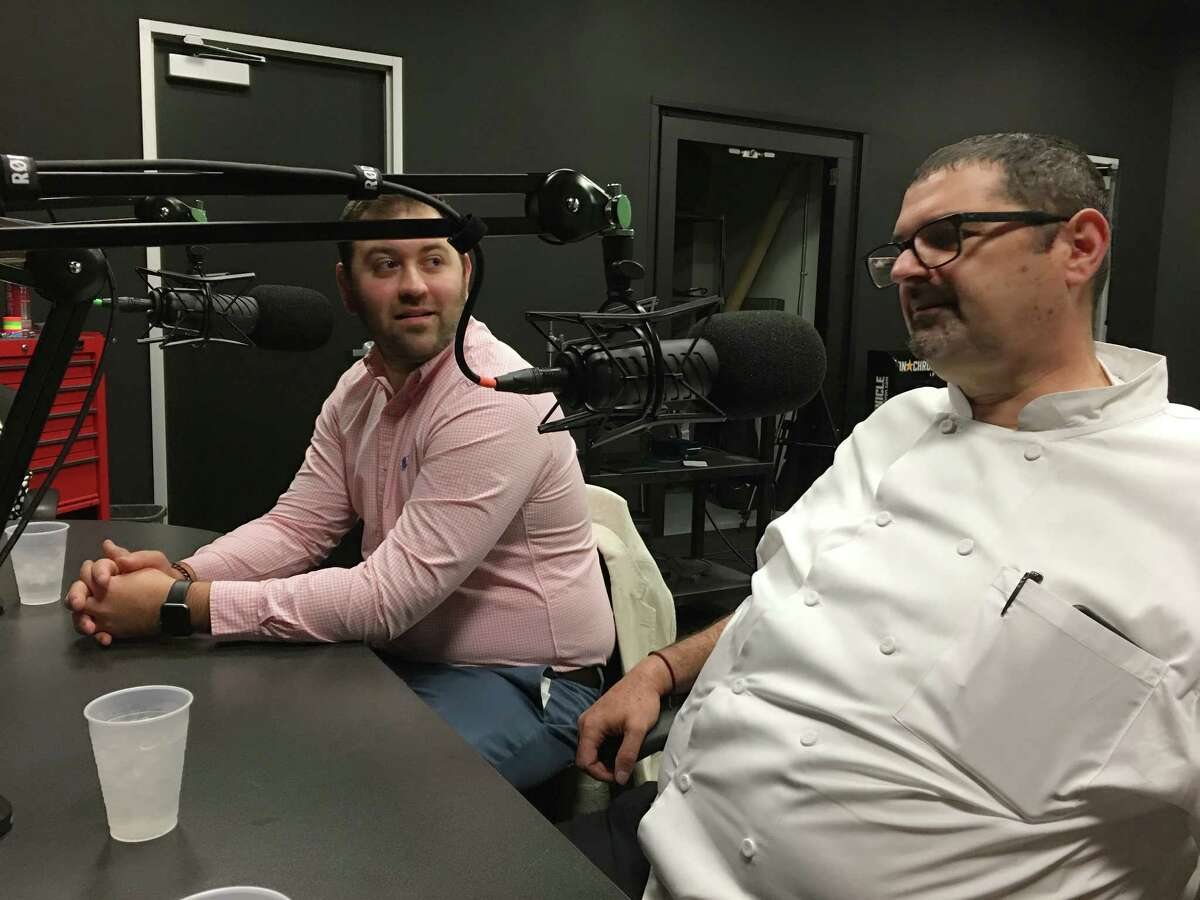 Matt Tanner, left, beverage concept manager for Pappas restaurants, and Michael Verlardi, corporate executive chef for Pappas restaurants, talk about the company's new brand, Delta Blues Smokehouse on the BBQ State of Mind podcast.