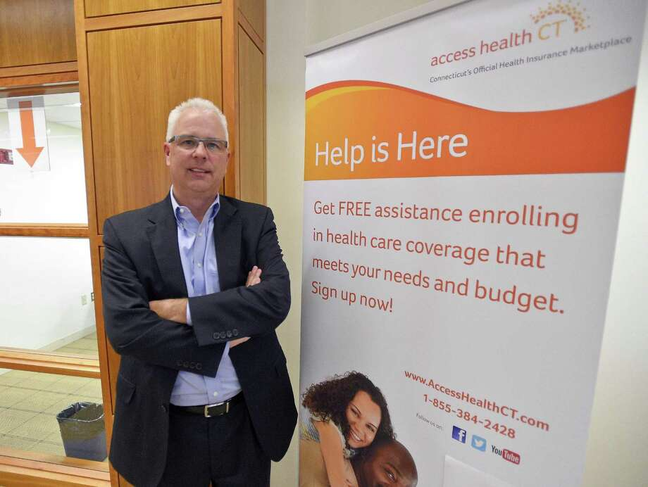 Access Health CT CEO Jim Wadleigh is photograph at the Ferguson Library in Stamford, Connecticut on Thursday, Nov. 2, 2017. Wadleigh toured various sites during a listening tour of open enrollment for health insurance in southern Connecticut that launched Nov. 1. Photo: Matthew Brown / Hearst Connecticut Media / Stamford Advocate