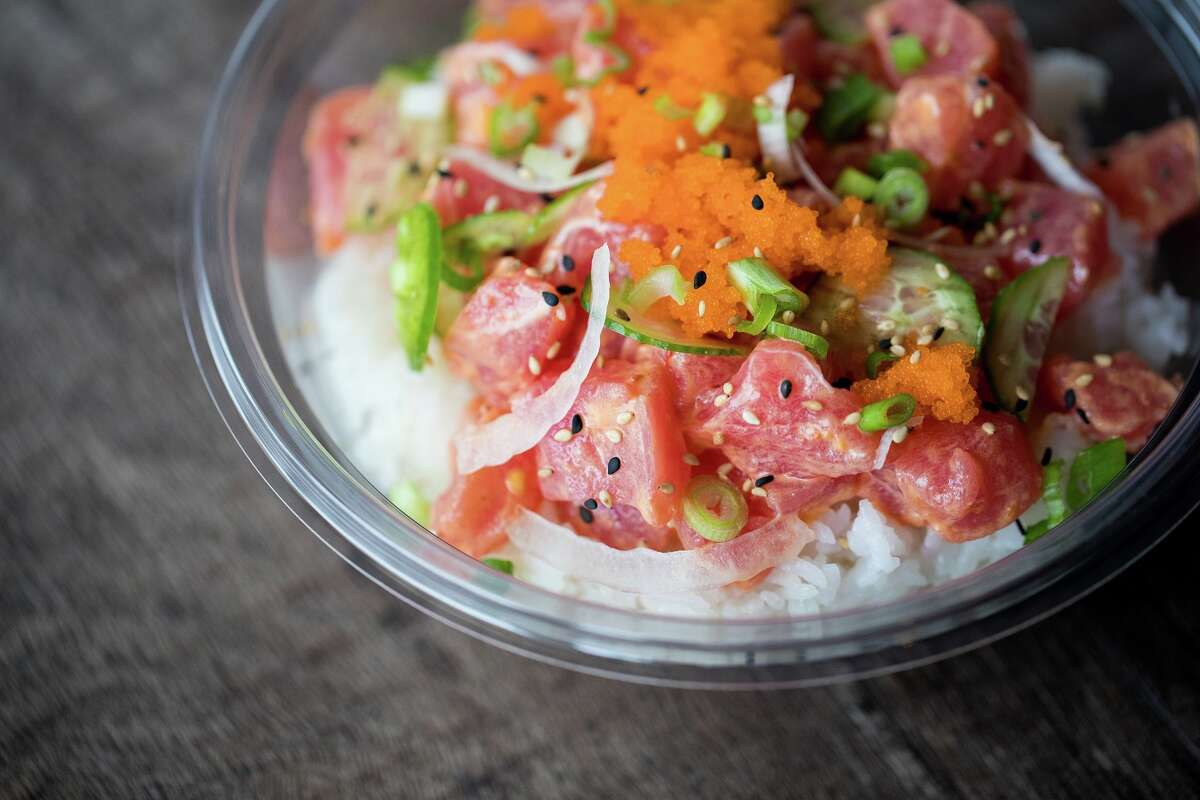 A poke bowl from Pokeworks which opened at 213 Heights in Houston.