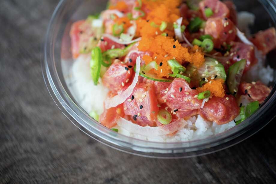 A poke bowl from Pokeworks which opened at 213 Heights in Houston. Photo: Pokeworks