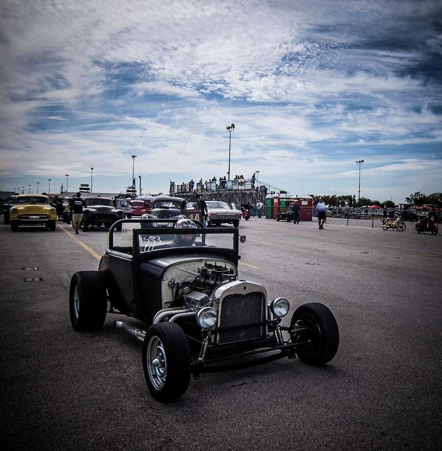 Brad Shaw drives his roadster at Funny Car Chaos. Photo: Courtesy Of Mark Delatin