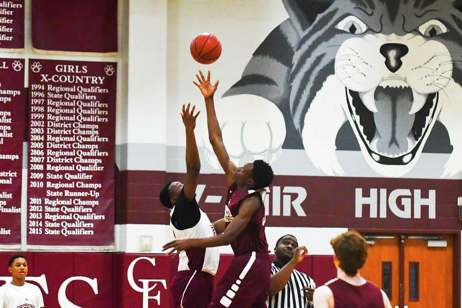Cy-Fair sophomore forward Adrian Caldwell started as freshman for the Bobcats and is expected to take a big step forward this season. Photo: Tony Gaines/ HCN, Photographer