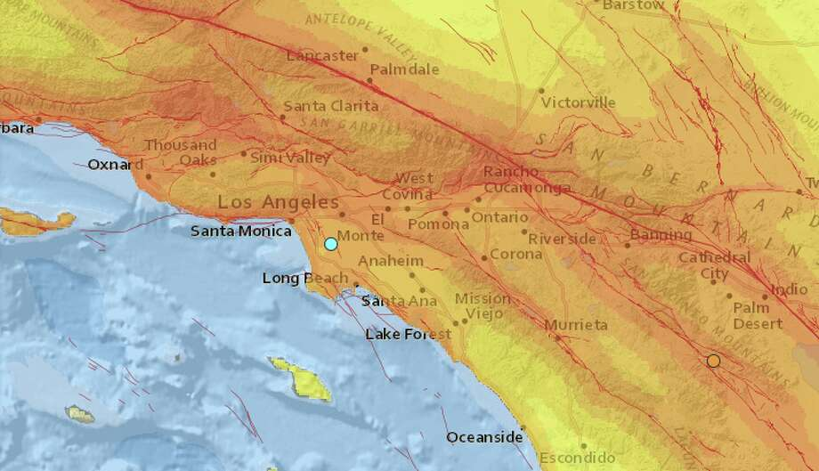 The United States Geological Survey reports a preliminary magnitude 3.1 earthquake struck near Willowbrook, CA on Friday.   The quake hit at 1:25 AM local time at a depth of 11 kilometers. Photo: USGS