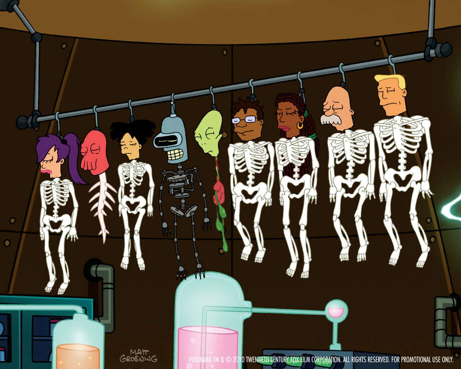 "shot from episode 1, ""Rebirth,"" of Futurama Season 6 / Futurama ™ and © 2010 Twentieth Century Fox Film Corporation. Al"