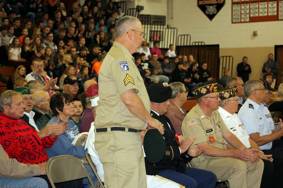 Ubly Community Schools hosted its Veterans Day program Friday morning. Photo: Bradley Massman/Huron Daily Tribune