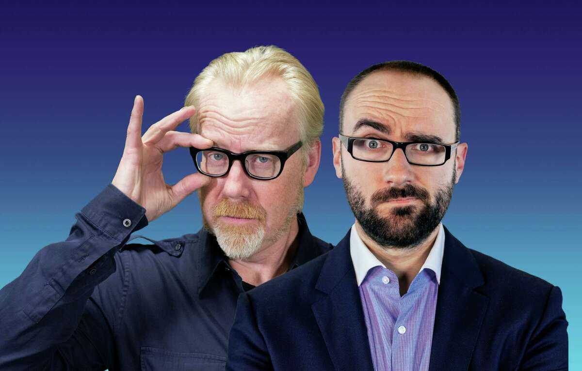 Adam Savage, left, and Michael Stevens bring