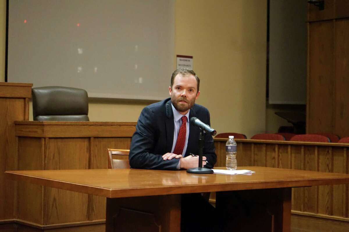 Philip Torrey, managing attorney at the Harvard Immigration and Refugee Clinical Program,discusses sanctuary cities at the Albany Law Review Symposium on Thursday, Nov. 9, 2017. (Massarah Mikati/Times Union)
