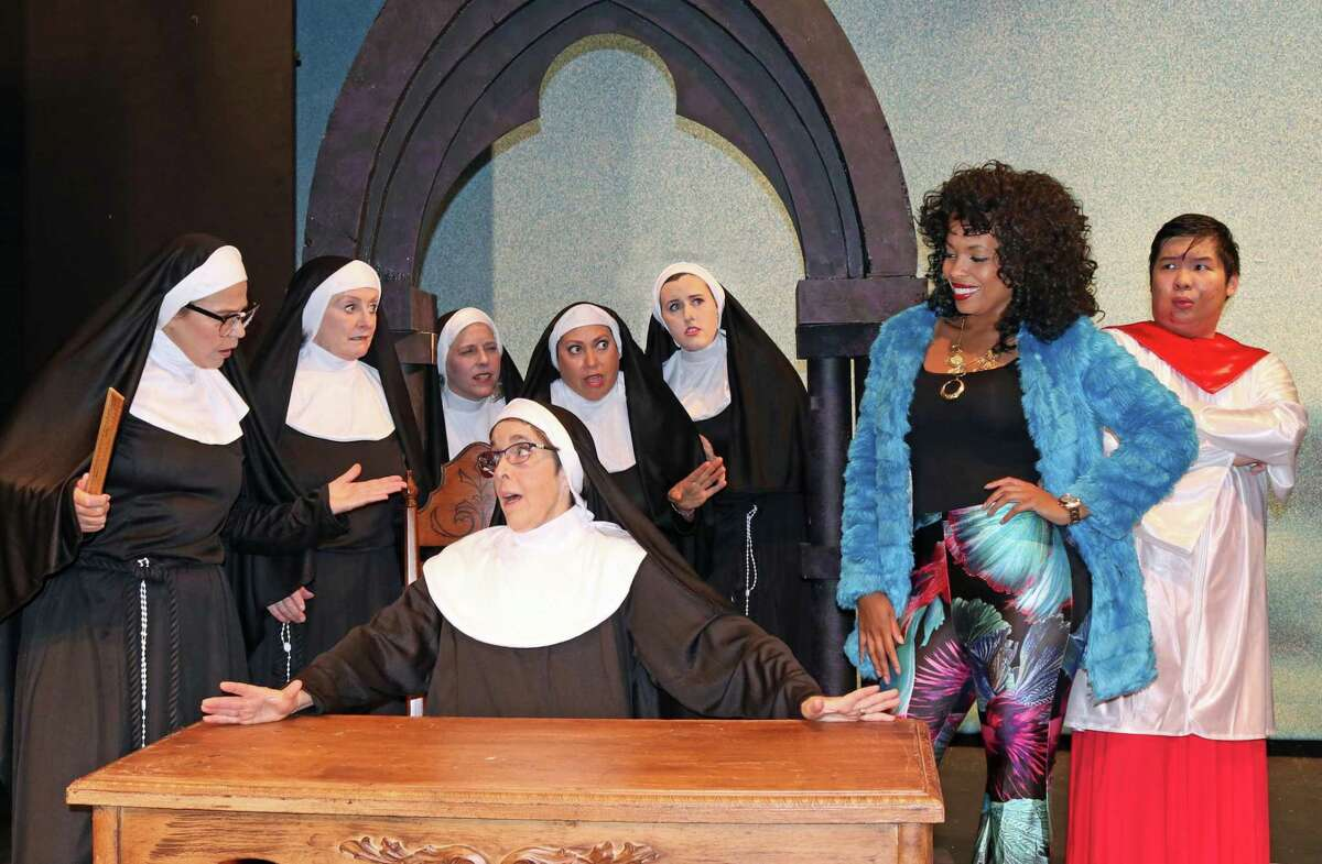 It was bound to be a challenge when Deloris Van Cartier, who knows more about disco than the divine, ends up in a convent as part of a witness-protection plan. Stamford's Curtain Call theater company is staging