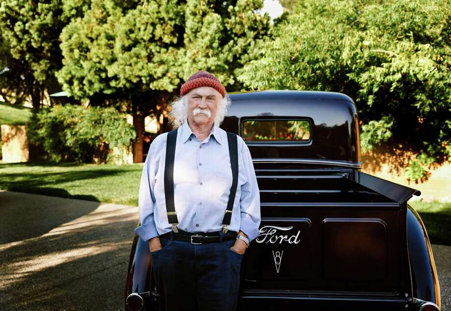 "David Crosby & Friends will perform at the Ridgefield Playhouse on Monday, Nov. 20. Crosby, seen here with his 1944 Ford, said he wanted it in the photo because ""it's pretty."" Photo: Anna Webber / Contributed Photo / www.annawebber.com"
