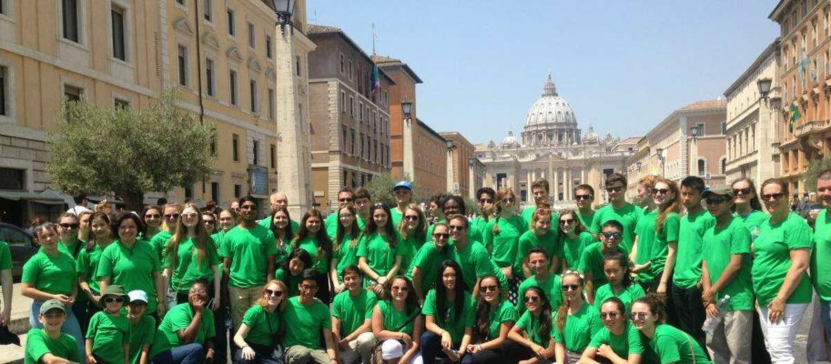 The Greater Bridgeport Youth Orchestras on a recent trip to Italy. The musicians will perform on Nov. 19 at the Klein Auditorium in Bridgeport.