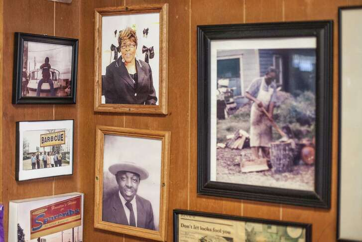 Pictures of the Davis family hang on the walls of Pizzitola's. The Davises originally owned the restaurant. After a few visits to barbecue spots, diners take time to appreciate not only the food but the ambience.