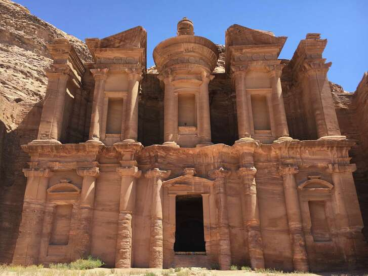 """Ad Deir, """"the Monastery,"""" is one of the largest monuments in the ancient city of Petra and is believed to have been cut into the rock during the first century A.D."""