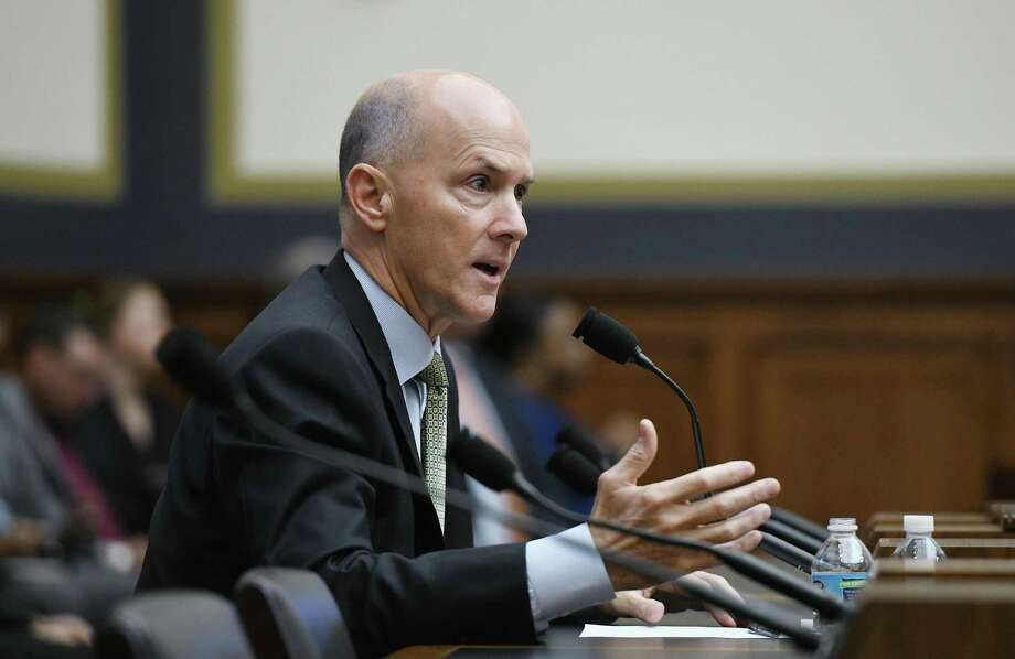 Equifax CEO Richard Smith testifies during a House hearing to examine the Equifax Data Breach in Washington, D.C. Despite his management, Smith retired with a generous pension. That is just wrong Photo: Olivier Douliery /TNS / Abaca Press