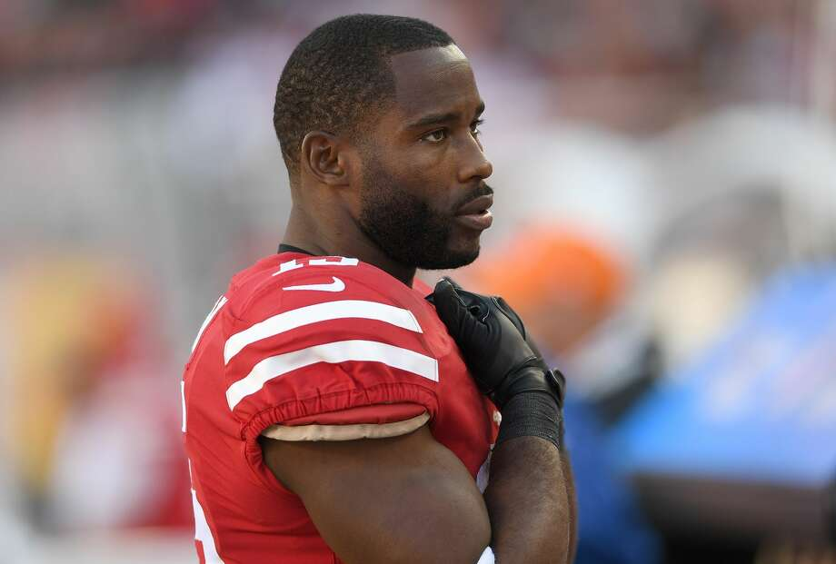 Pierre Garcon #15 of the San Francisco 49ers looks on from the sidelines during their NFL football game against the Dallas Cowboys  at Levi's Stadium on October 22, 2017 in Santa Clara, California.  (Photo by Thearon W. Henderson/Getty Images) Photo: Thearon W. Henderson/Getty Images