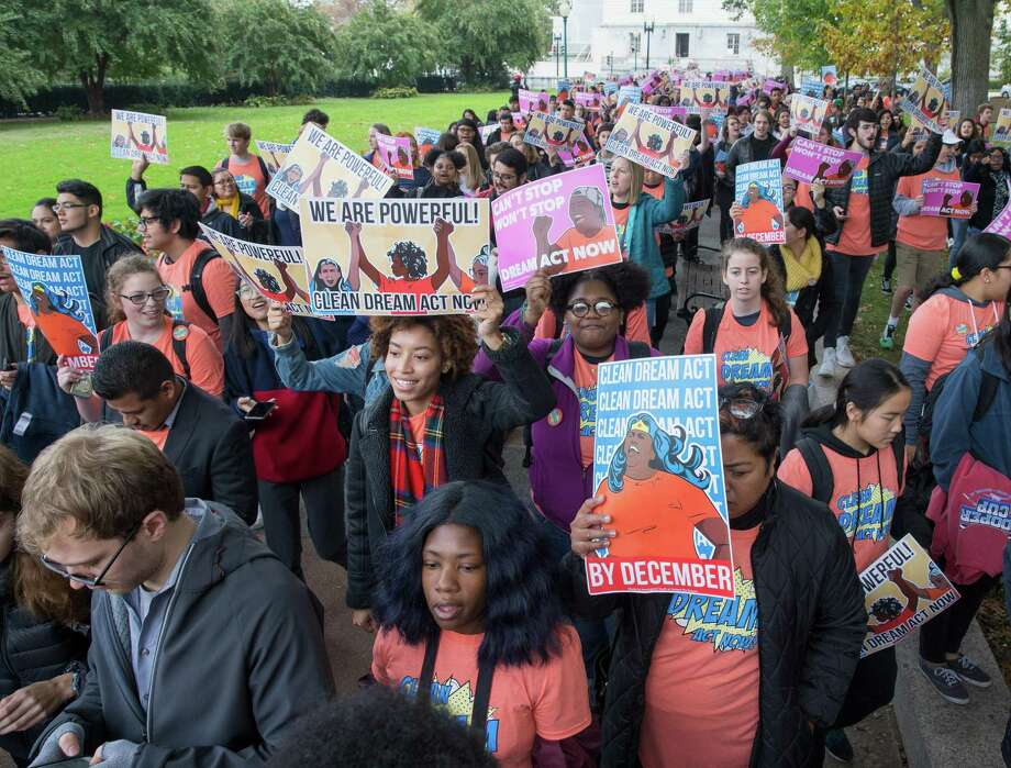 On Nov. 7, immigrant youth from all over the county and allies march in Washington D.C. to demand a clean Dream Act by the end of the year to ensure 800,000 immigrant youth have the protections they deserve. Photo: Tasos Katopodis /Getty Images For MoveOn.org / 2017 Getty Images