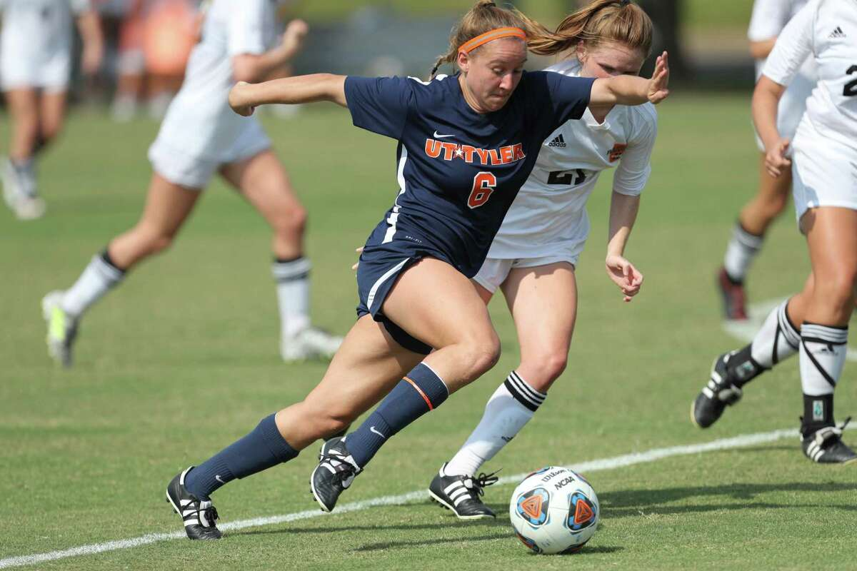 Seven Lakes graduate and University of Texas at Tyler senior Caitlyn Mortus led the Patriots with five goals this season, adding three assists to earn second-team all-American Southwest Conference honors.