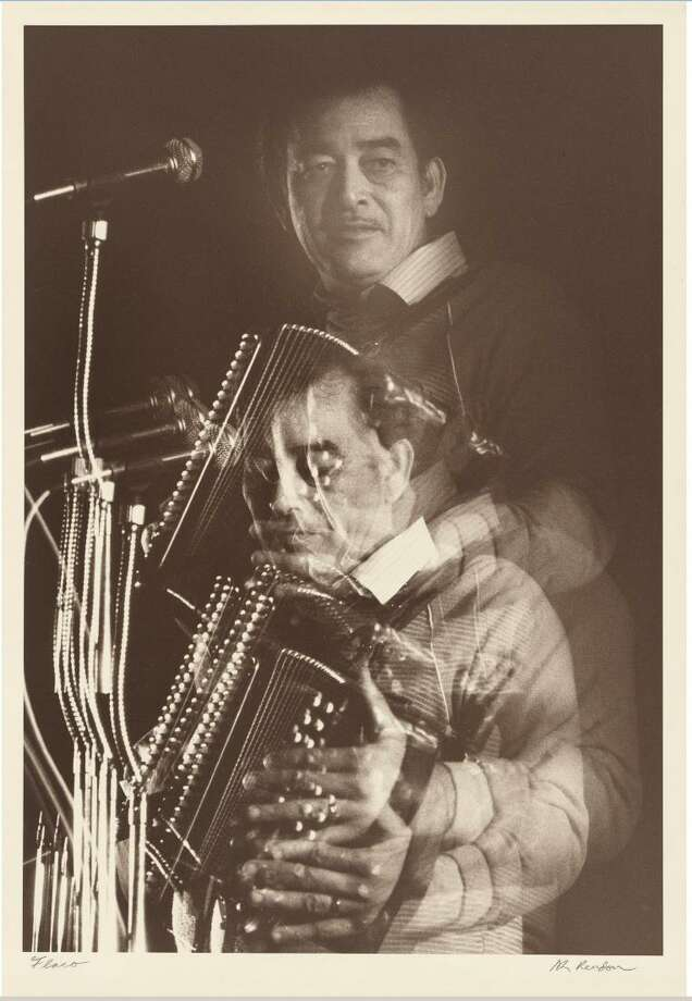 San Antonio photographer Al Rendon shot the multiple-exposure photo during a performance by Flaco Jimenez at the Blanco Ballroom. Photo: Al Rendon / National Portrait Gallery, Smithsonian Institution