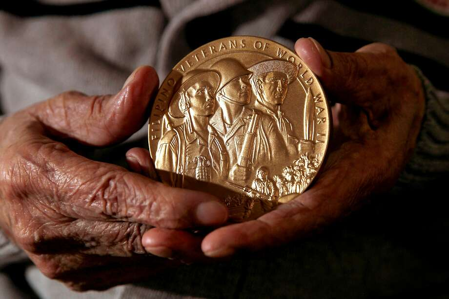 Ante holds the Congressional Gold Medal, the highest civilian award in the United States. Photo: Michael Macor, The Chronicle