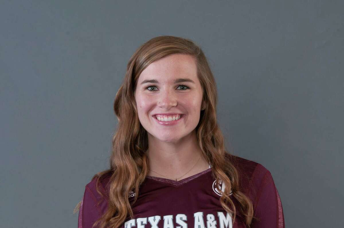 Amy Houser was a two-sport all-district athlete at Memorial. She has compiled 130 digs, 24 assists and nine aces in 19 matches as a junior defensive specialist this season at Texas A & M.