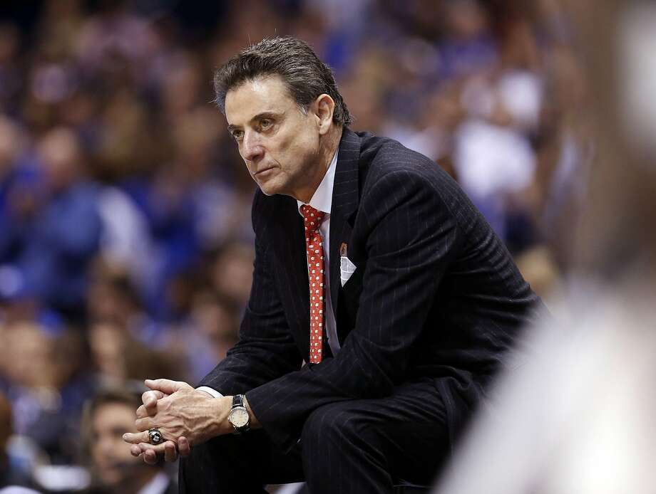 Louisville head coach Rick Pitino late in the second half of a 74-69 loss to Kentucky in the NCAA Tournament's Midwest Region semifinal at Lucas Oil Stadium in Indianapolis on March 28, 2014. (Charles Bertram/Lexington Herald-Leader/TNS) Photo: Charles Bertram, TNS