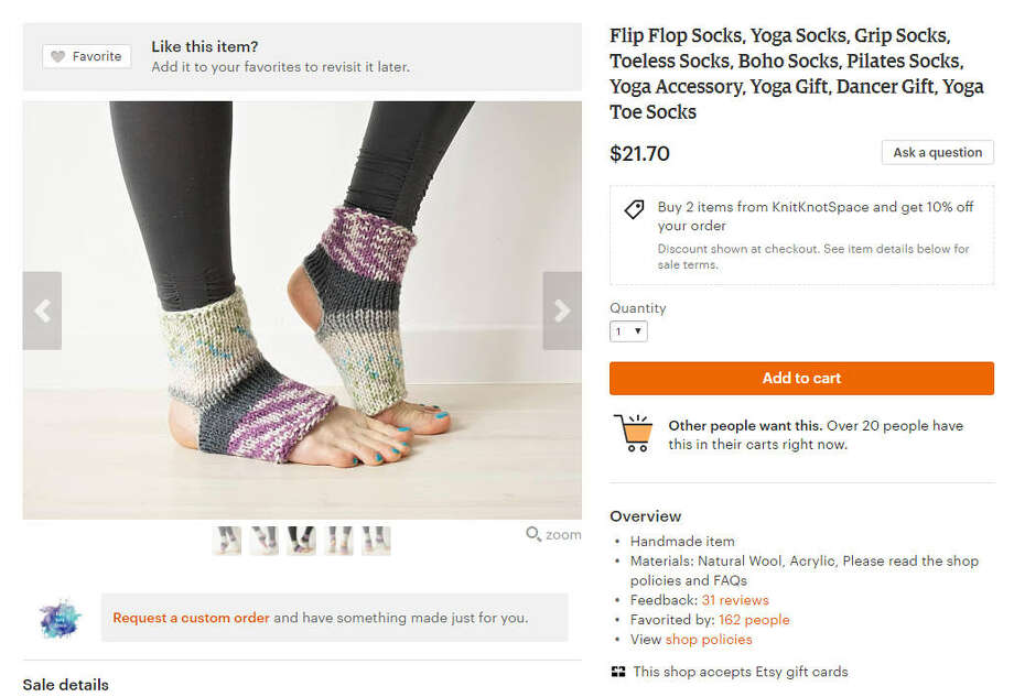 The flip flop sock is the latest trend that has us questioning everything we thought we knew about fashion.>> See other weird trends that have come and gone.Photo: KnitKnotSpace Etsy