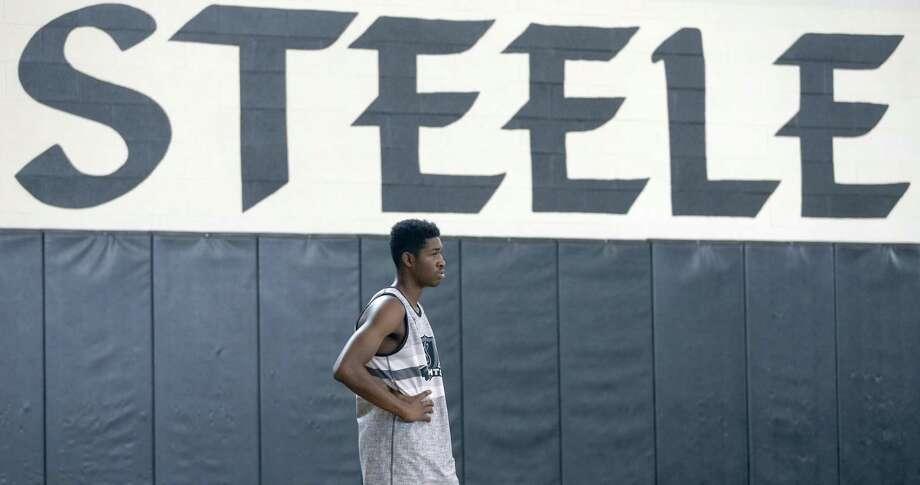 Steele High School senior Jayden Martinez waits Thursday, Nov. 9, 2017 for a drill to start during team practice. Photo: William Luther, Staff / San Antonio Express-News / © 2017 San Antonio Express-News