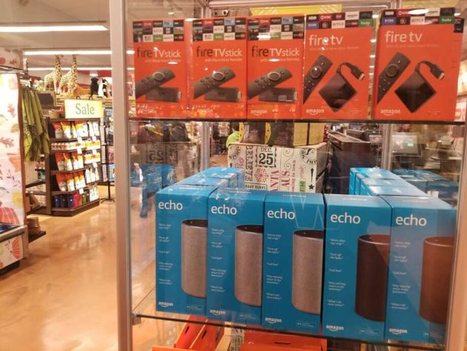 The Whole Foods in Seattle's Roosevelt neighborhood started selling Fire TV devices last week. Photo: GeekWire Photo/Taylor Soper