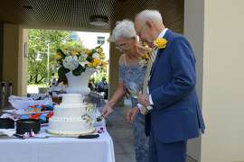On June 25, 2017, Phillis Bates and Ralph Simon, then both 86, married in front of over 130  guests including family and residents of Moldaw Senior Residences in Palo Alto.
