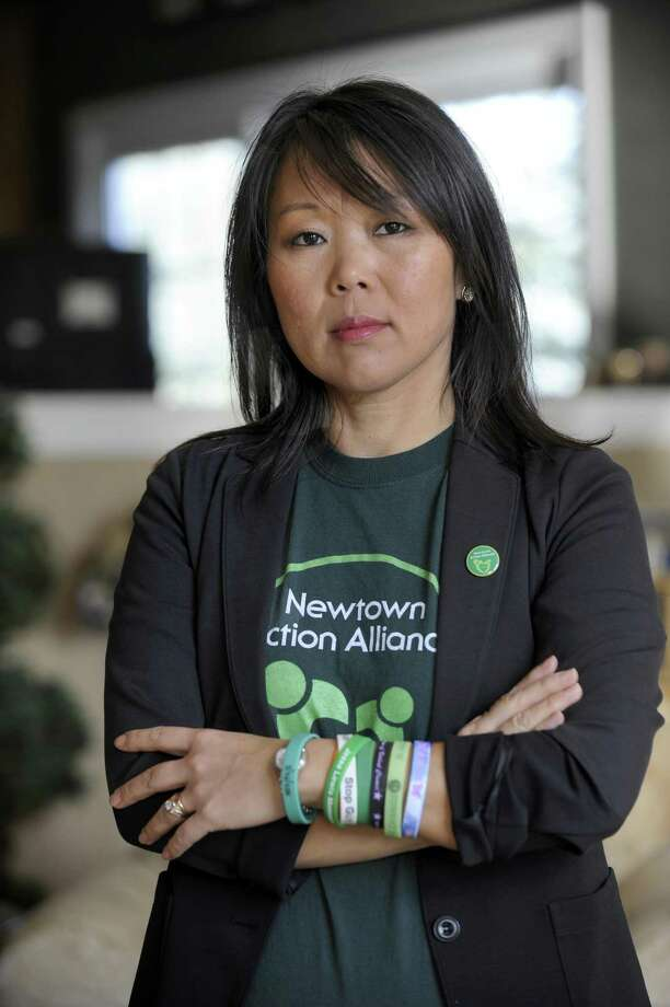 Po Murray, of Sandy Hook, is chairwoman of the Newtown Action Alliance. Photo: Carol Kaliff / Hearst Connecticut Media / The News-Times