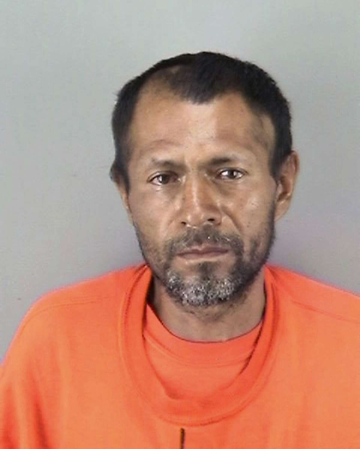 FILE - This undated file booking photo provided by the San Francisco Police Department shows Jose Ines Garcia Zarate. San Francisco jurors heard the muddled confession of the Mexican national on trial for the fatal shooting of Kate Steinle, whose death touched off a fierce debate over immigration. On Wednesday, Nov. 1, 2017, prosecutors played a portion of the interrogation of Jose Ines Garcia Zarate recorded several hours after Steinle was shot on July 1, 2015. (San Francisco Police Department via AP, File)