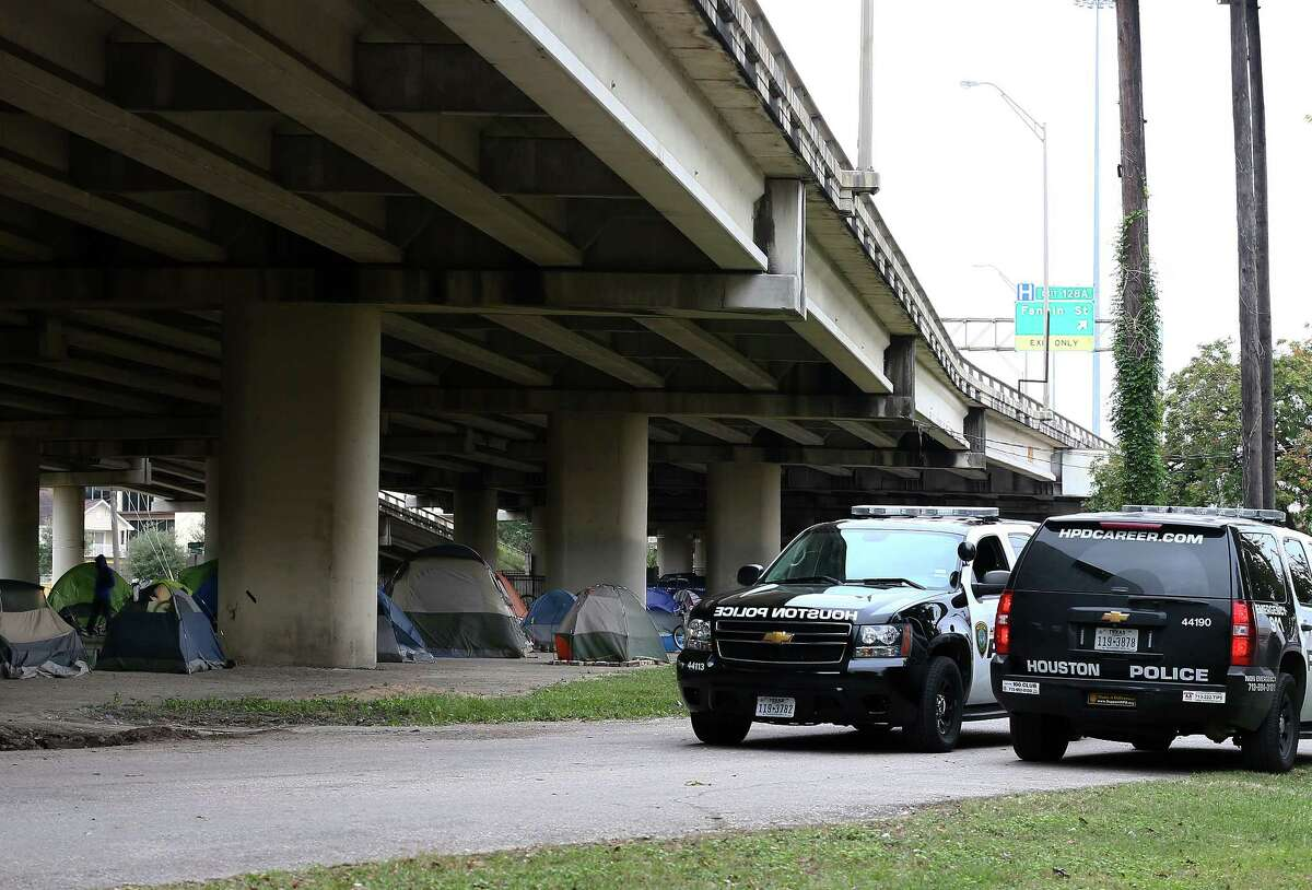 Two people have been shot and killed over the past three weeks at a homeless encampment located off Caroline under the U.S. 59. Houston's mayor holds the ACLU and its clients responsible for the crime and conditions at the camps.