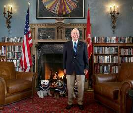 General Mike Myatt In the library of the Marines Memorial Club on Thursday, November 9, 2017, in San Francisco, Calif.