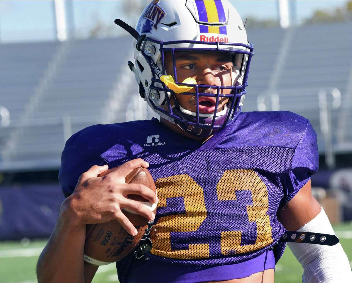 Sophomore safety Josh Wynn during UAlbany's practice Wednesday Oct. 5, 2016 in Albany, NY. (John Carl D'Annibale / Times Union)